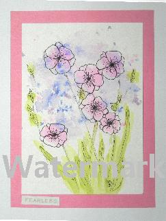 original art greeting cards watercolor flowers