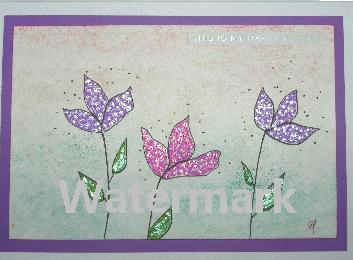 original art greeting cards watercolor flower